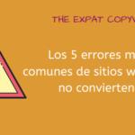 Los 5 errores más comunes de sitios web que no convierten