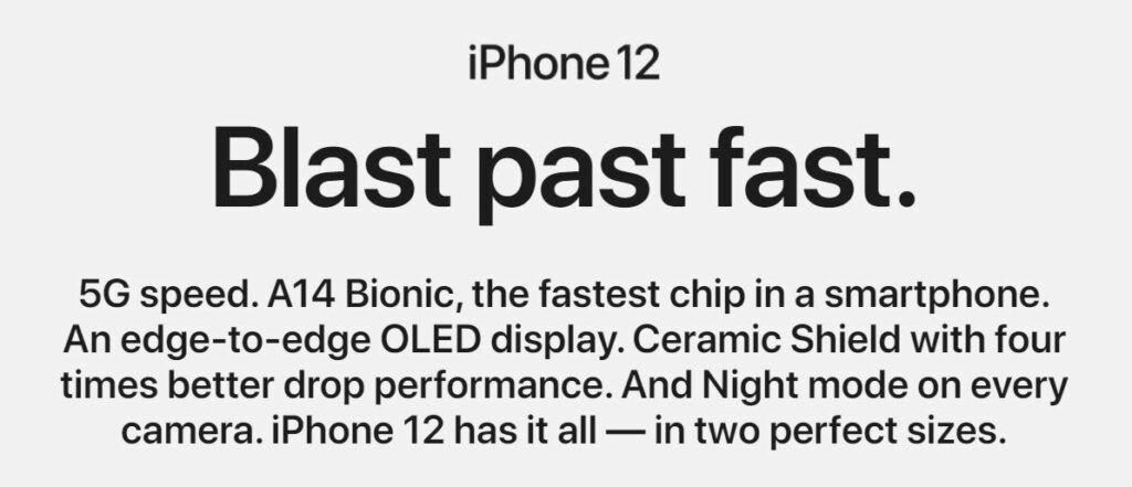 Apple copy